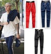 FOG Bibb with uniform pants pants trousers inside zipper retro color stripe men's casual pants