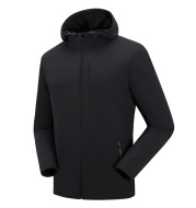 Men's movement in the spring and autumn season, men's single layer elastic mountaineering jackets, waterproof, windproof, breathable and caprant riding clothes