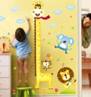Diy Giraffe Height Chart Measure Wall Stickers