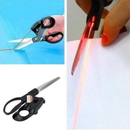 Professional laser guided scissors