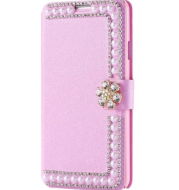 Luxury Bling Rhinestone Pearl Wallet Leather Cover Case For iphone 7