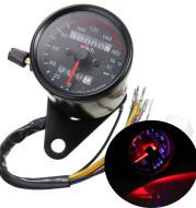 Motorcycle Black Tachometer Odometer Gauge