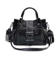 Double Leather Bucket Bag Handbag
