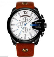Fashionable Large Dial Decorated Three-eye Men's Watch
