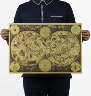 Vintage star constellation map