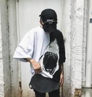 GREAT WHITE T-SHIRT - BLACK / WHITE