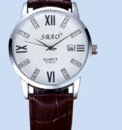 Leather Unisex Wrist Watch