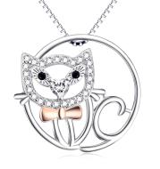 Hollow OutPendant 925 Silver Necklace
