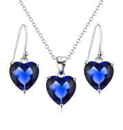 Ladies 925 Silver Necklace Earring Set Bridal Jewelry