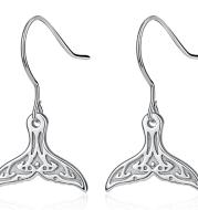 Cute Whale Tail 925 Sterling Silver earrings