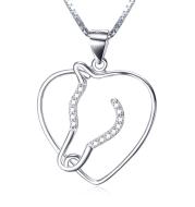 925 Sterling Silver Heart Shape Necklace