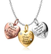 925 Sterling Silver Heart Shape Pendant Necklace