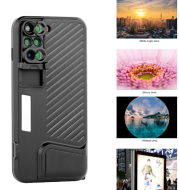 The iphone7plus lens case is a fish-eye lens with a wide-angle macro lens.