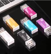 Multi in one card reader Mini versatile SD/TF mobile phone camera universal USB memory card high-speed