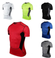 Quick-drying sports fitness shirt men's quick-drying short-sleeved men's quick-drying Slim short-sleeved