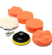 Car polishing sponge set 3 inch 7 sets of flat wave sponge wheel polishing plate wax sponge polishing wheel