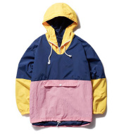 MCCKLE Men's Hooded Jackets Hip Hop Outwear Windbreaker Jacket Cargo Casual 2021 Spring Unisex patchwork Coat Jackets