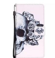 UPaitou Crânio Caso a Carteira para o iPhone 7/7 Plus 7 mais Casos de Cobertura de para Samsung Galaxy S7 Borda S7Edge G935 G935F Estojo De Couro PU