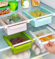 Household plastic can be hung the refrigerator partition layer to organize and accept storage rack bituminous water rack kitchen supplies