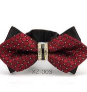 Exquisite diamond, British man, bow tie, men's formal wedding tie, Korean version, double groom bow tie.