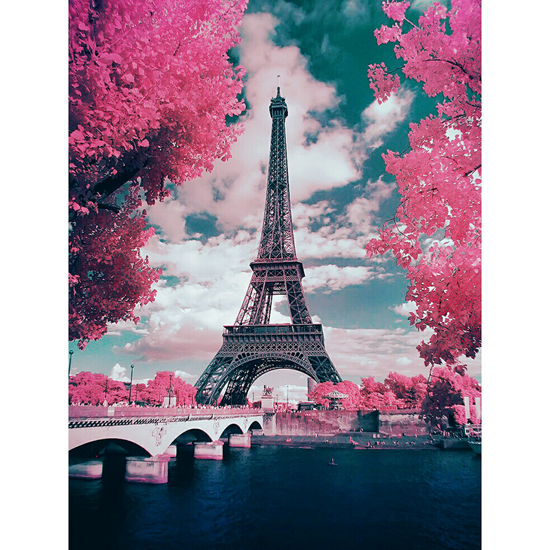 Eiffel Tower Diamond Painting Point Drill