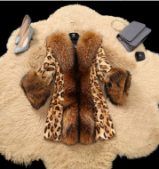 Vintage Leopard Jacket with Super Fluffy Sleeves