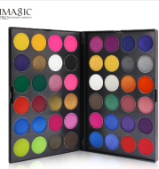 Professional double layer 48 color eye shadow multicolor earth color makeup disc
