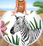 European and American zebra beach towel microfiber round beach towel yoga mat