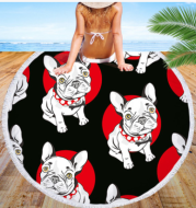 Round beach towel dog beach towel shawl cushion microfiber bath towel