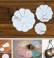 Flower Shaped Quilting Templates