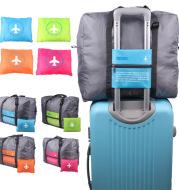 Large Capacity Foldable Travel Bag Nylon Waterproof Gym Duffel Bag Folding Traveling Clothes Storage Organizer