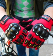 Outdoor motorcycle electric bicycle riding non-slip gloves sunscreen hard shell CS full finger sports touch screen gloves wholesale