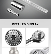 Universal Wrench Ratchet Universal Socket 7-19mm Power Drill Adapter Wrench Combination universal key