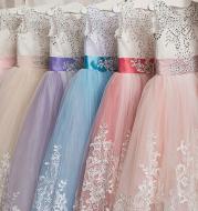 Europe and the United States new children's clothing children's lace wedding dress skirt pettiskirt princess dress flower girl dress girls birthday piano