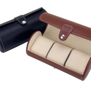 3 cylinder watch box spot wholesale leather watch box watch storage box watch box