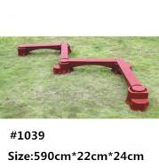 The children's outdoor toys half shake balance feeling plate physical energy-saving circular S shaped single plank bridge