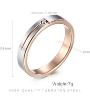Female 4mm Authentic Tungsten Carbide Ring