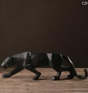 Modern Abstract Black Panther Sculpture