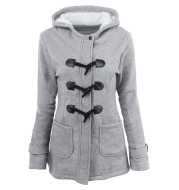 2021 warm winter fur collar jackets women new horn button Long down coat women parka Plus Size female parka hoodies Women