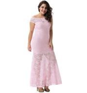 Lace Long Slim Party Evening Sheath Dress