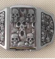 3D ghost head lighter belt buckle European and American fashion belt buckle