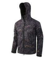 Shark skin soft shell men's sport camouflage suit