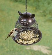 Cat Shaped Bird Feeder Cat Shaped Vintage Handmade Outdoor Decor Villa Garden Decoration Hanging Bird Outdoor Feeder