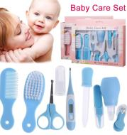Mother Baby Newborn Feeding Device Nasal Aspirator 10 Piece Set Baby Manicure Clamp Nail Clipper