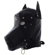 Leather hood leather dog hooded adult toy hood