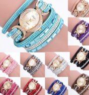 New Casual Rhinestone Watch Dress Ladies Bracelet Watch Analog Quartz Watch for Women