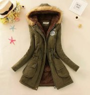 Thick Winter Jacket Women Large Size Long Section Hooded parka outerwear new fashion fur collar Slim padded cotton warm coat