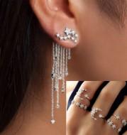 Shining Star Tassel Earrings Back Hanging Exquisite Earrings