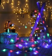 Room layout led lantern flashing string lights starry