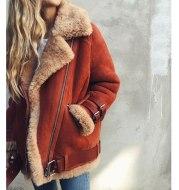 Jacket Women Coat Winter 2021 Hot Cotton Lambswool Outerwear Fashion Plus Size Overcoat For Female Thick Women Autumn Jacket